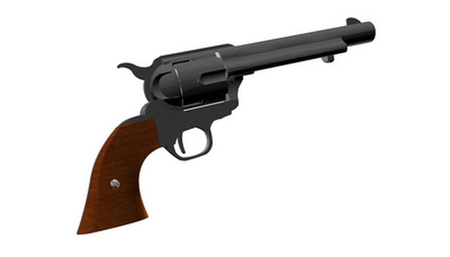 Un revolver de simple acción