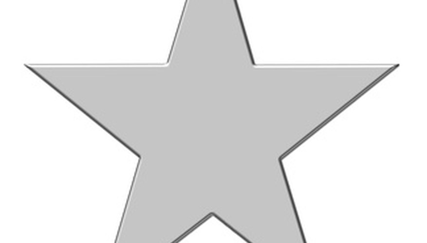 Metal barn stars are a great way to add a rustic country feel to your room decor.