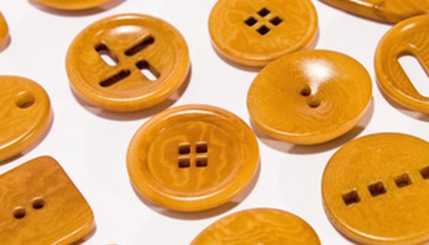 Existen botones de muchas formas, colores y tamaños.