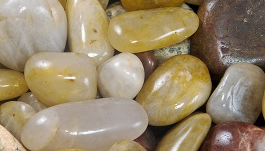 Use river rock when you need a smooth stone.