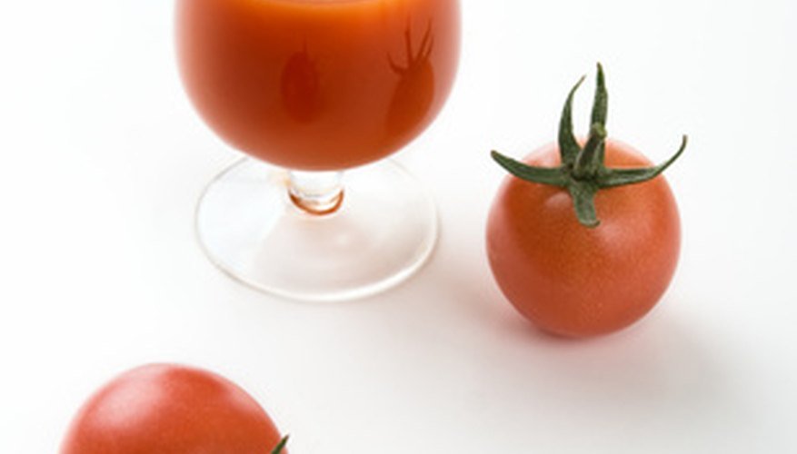 Tomato juice is a good source of vitamin C.