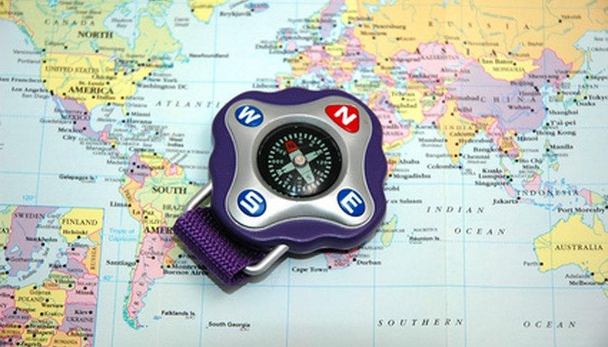 Latitude and longitude are often marked on maps.