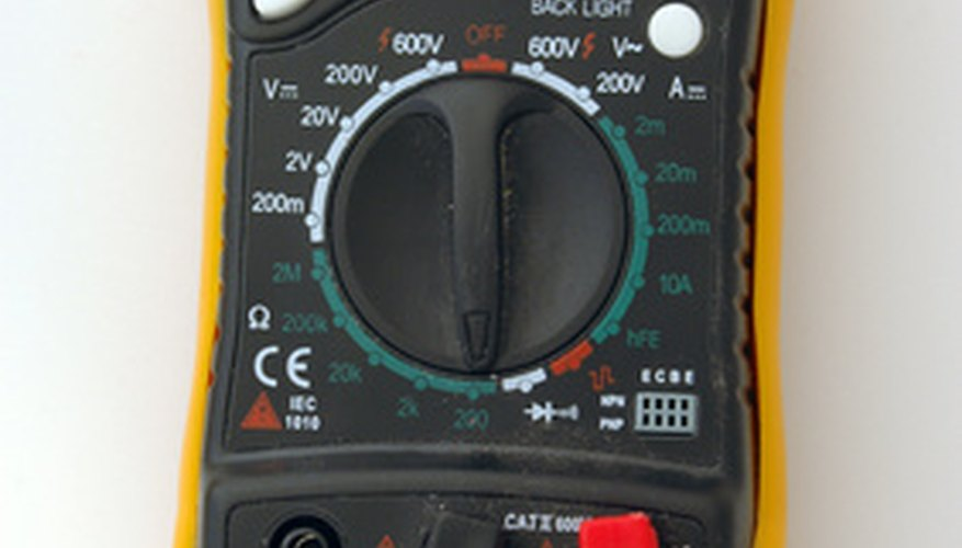 Digital multimeter in operation