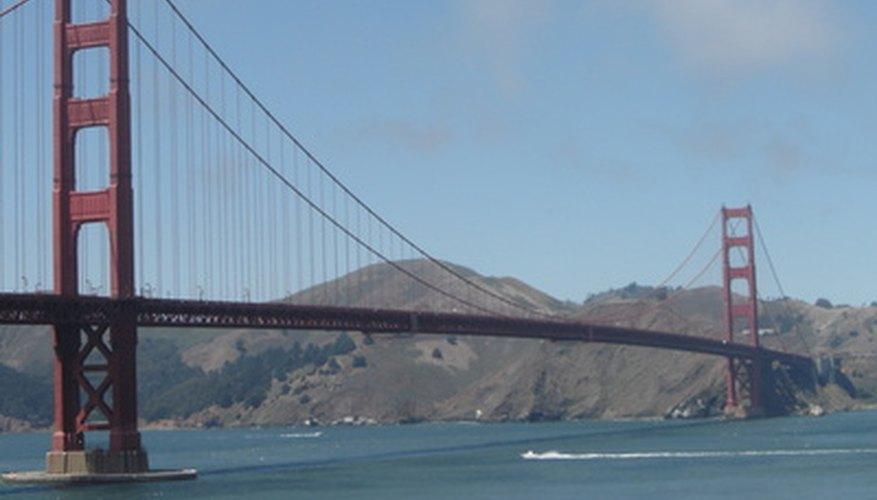 Puente colgante llamado Golden Gate.