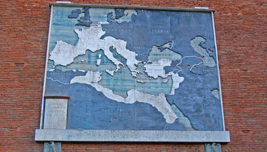El antiguo Imperio Romano tuvo influencia sobre gran parte del mundo occidental durante el primer y segundo siglos de nuestra era.