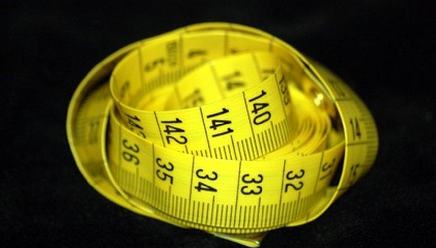 Una cinta métrica de costura es más fácil de usar que una cinta métrica de la construcción.