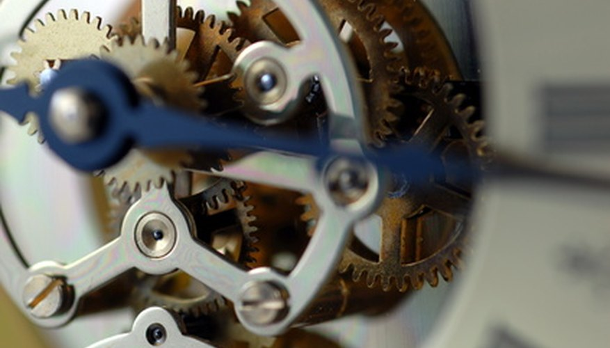 Interlocking gears turn at different speeds and with different amounts of force.