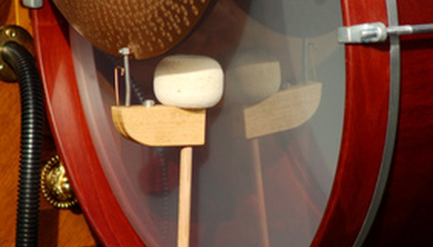 A bass drum and pedal