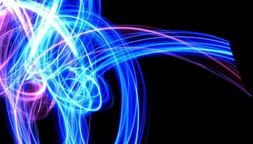 Luces LED en la oscuridad