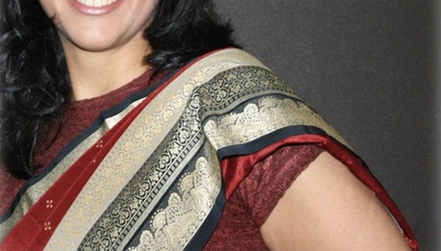 Los saris son distintivos y extremadamente bellos.