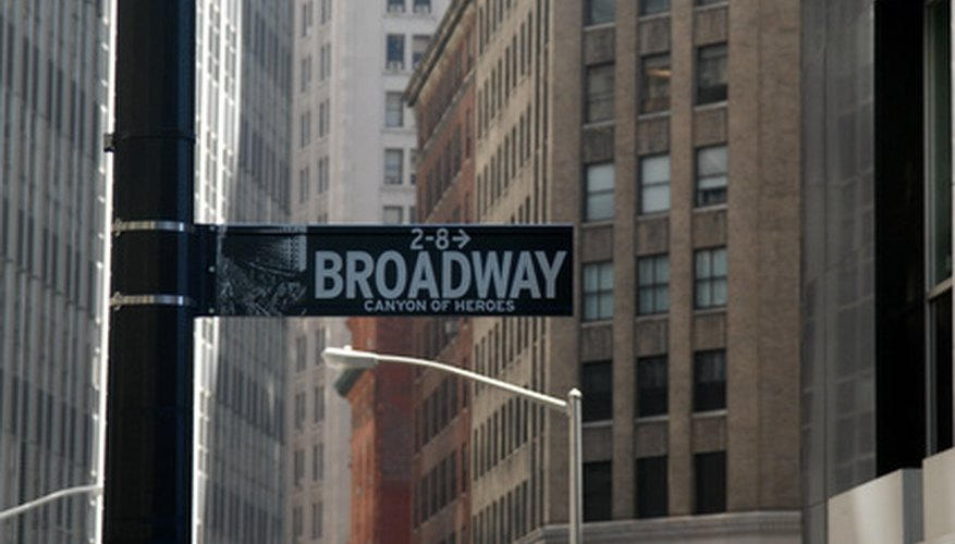 The Broadway district of New York is the heart of musical theatre.