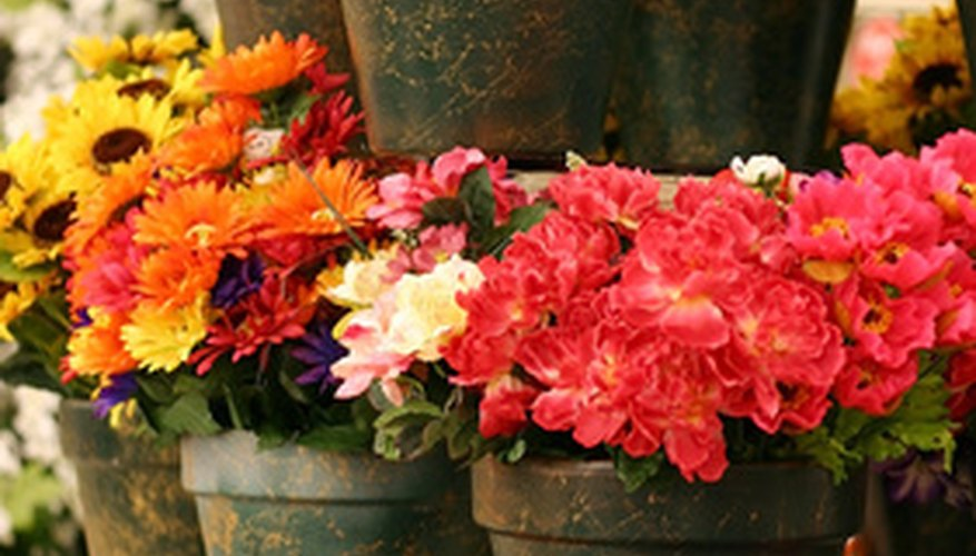 Buckets full of blooms can brighten any room.