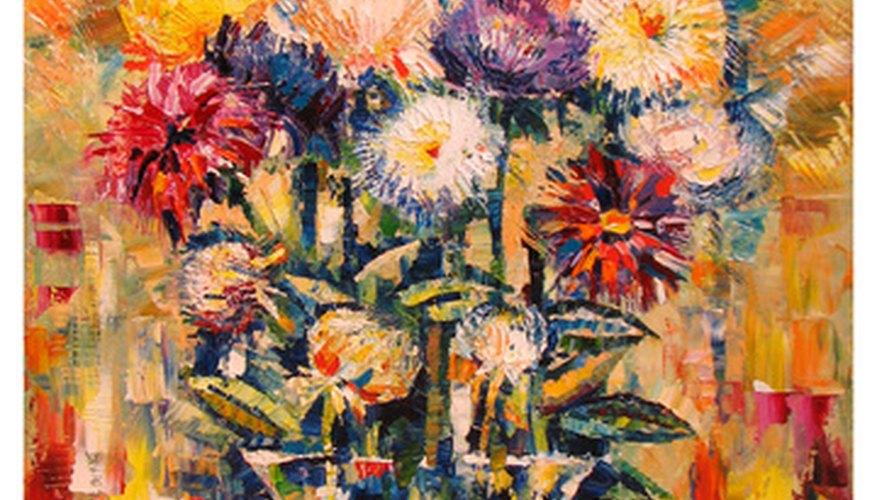 Los barridos son eficaces en las pinturas de pétalos de flores realistas y tridimensionales.