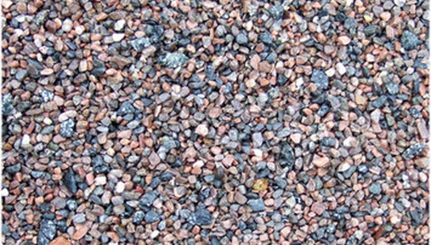 Decorative crushed gravel can come in many different colors.