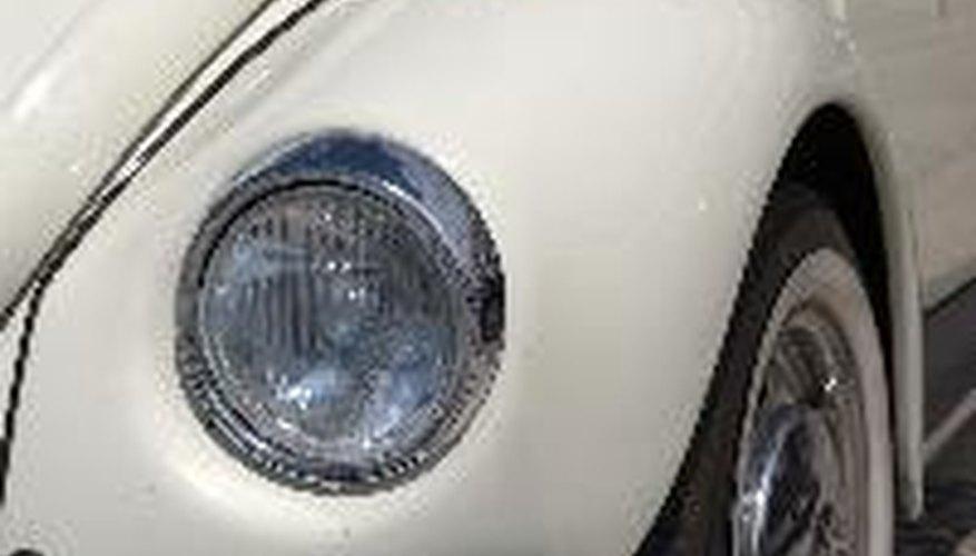 White VW beetle