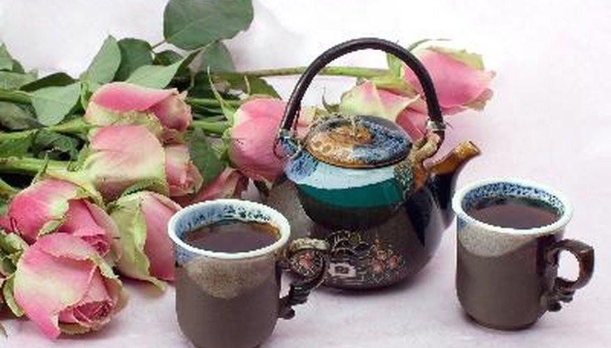 Fiesta de té para las niñas.