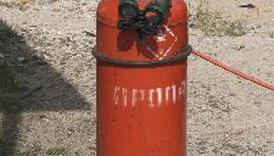 Cylinder with propane