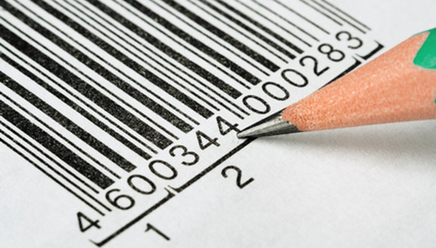 A typical UPC barcode.