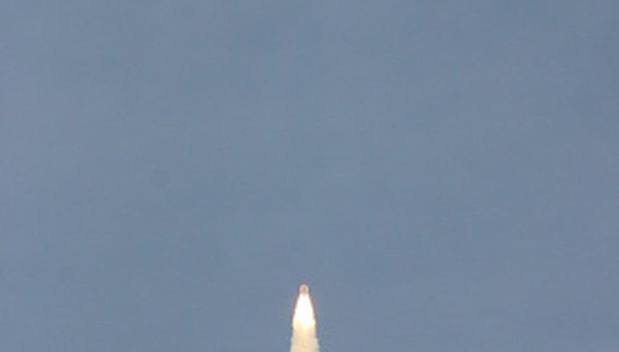 Lanzamiento de transbordador espacial.