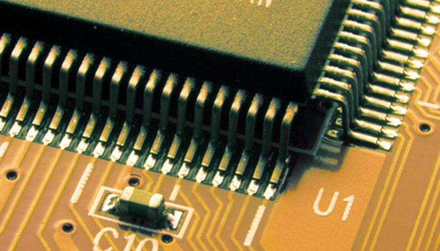 the big microcircuit on a orange board