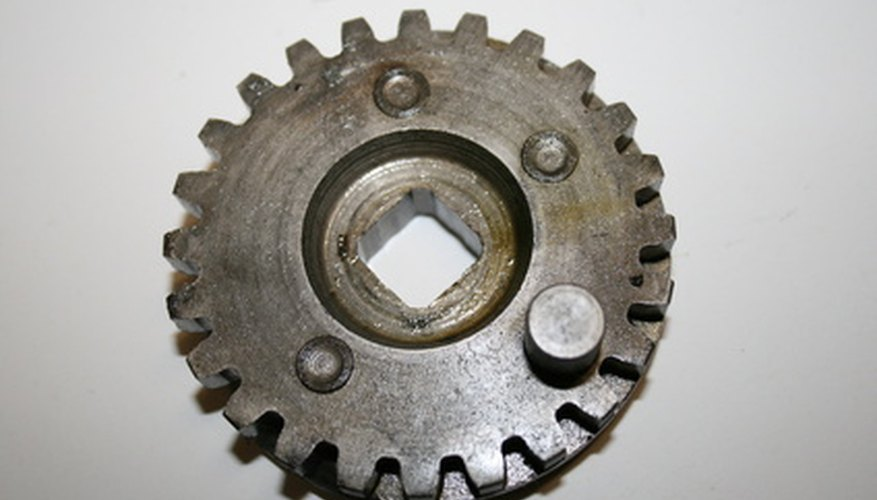 A spur gear is common, simple and strong.