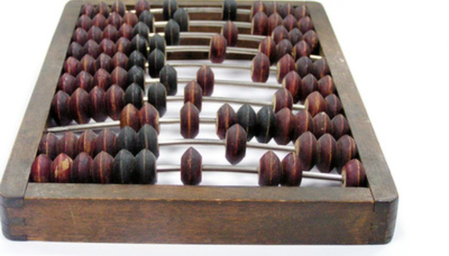 An abacus can help a child learn to count, add and subtract.