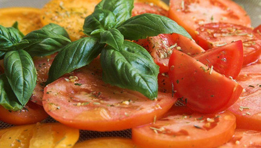 Basil pairs best with tomatoes.