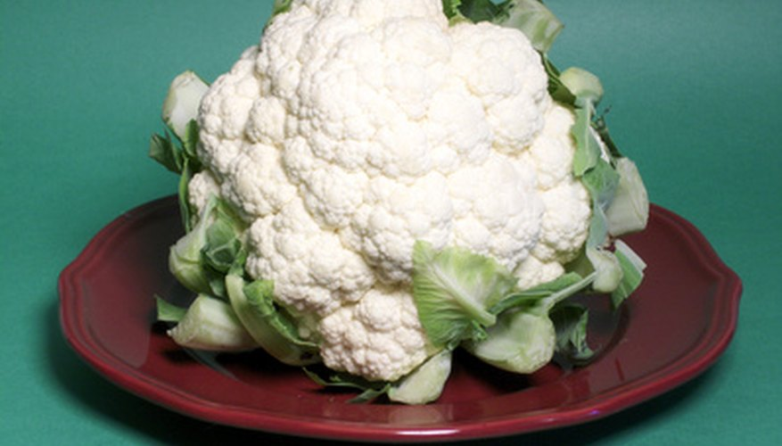 Large head of cauliflower.