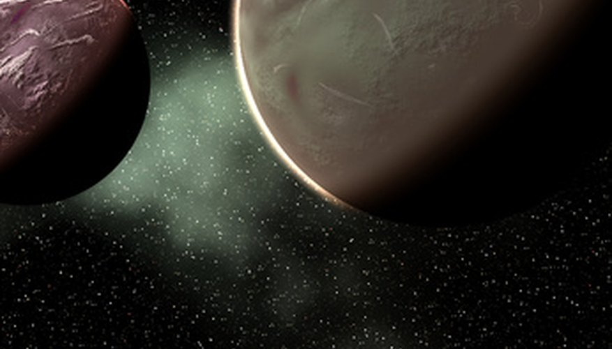 Al igual que en la representación imaginaria de este artista, el Kepler encontró dos planetas en órbita alrededor de la misma estrella.