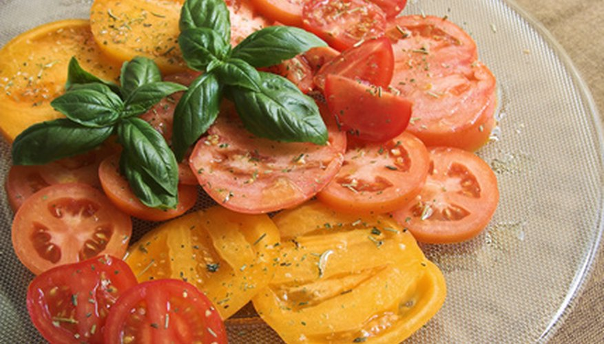 Heirloom tomatoes add color and flavor to your table