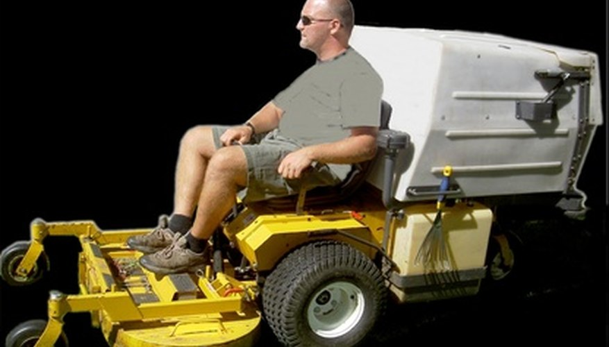Safe operation of a lawn tractor requires that you remain seated while the vehicle is running.