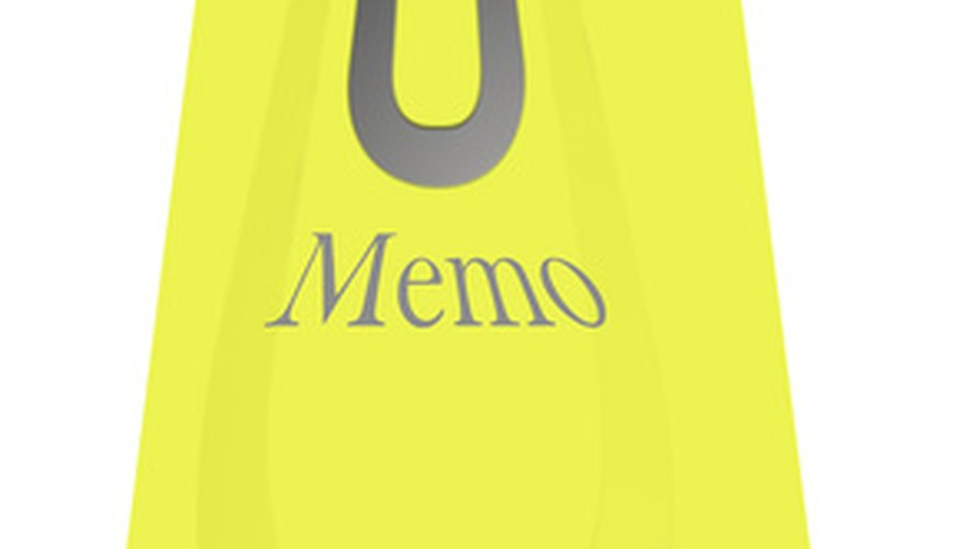 There can be many reasons to send out a persuasive business memo.