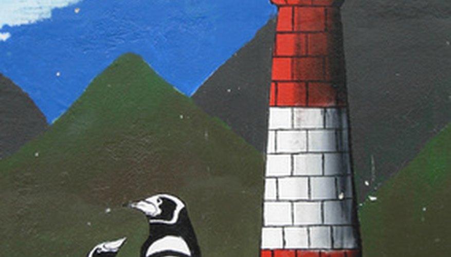Alegra un pasillo o un aula con un mural.