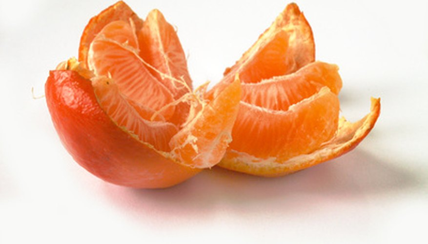 Mandarin oranges have skin that is easy to peel.