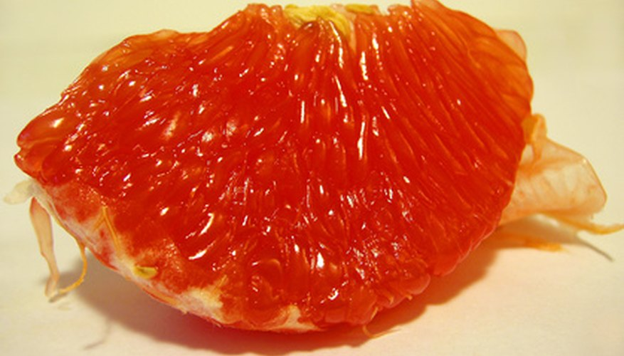 Rio Red grapefruit has a deep red, seedless flesh.