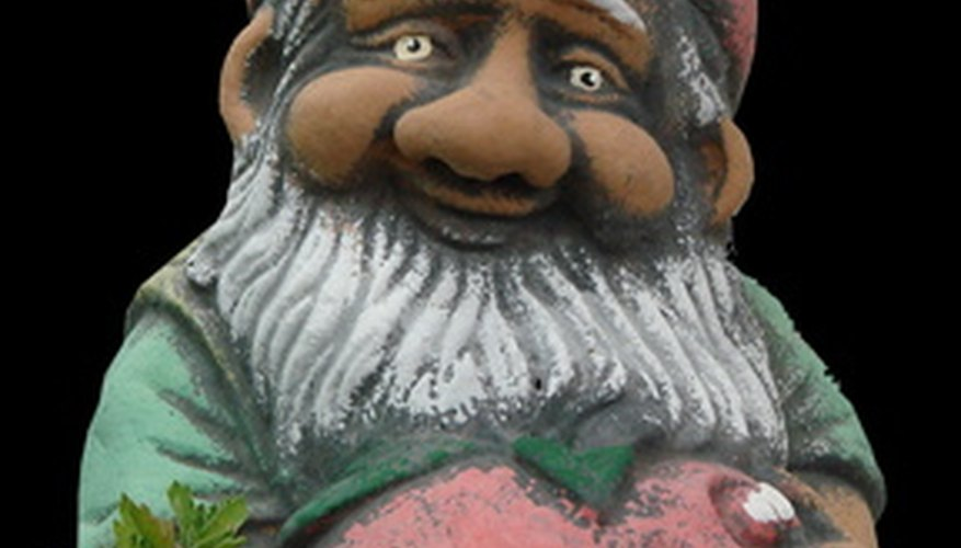 A brightly painted gnome can accent your outdoor garden.