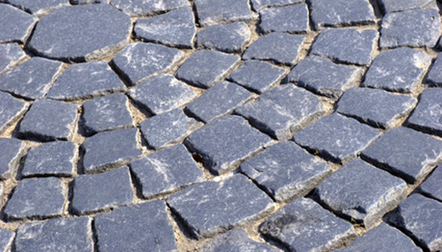 Pavers can be placed in circles around the base of trees and shrubs.