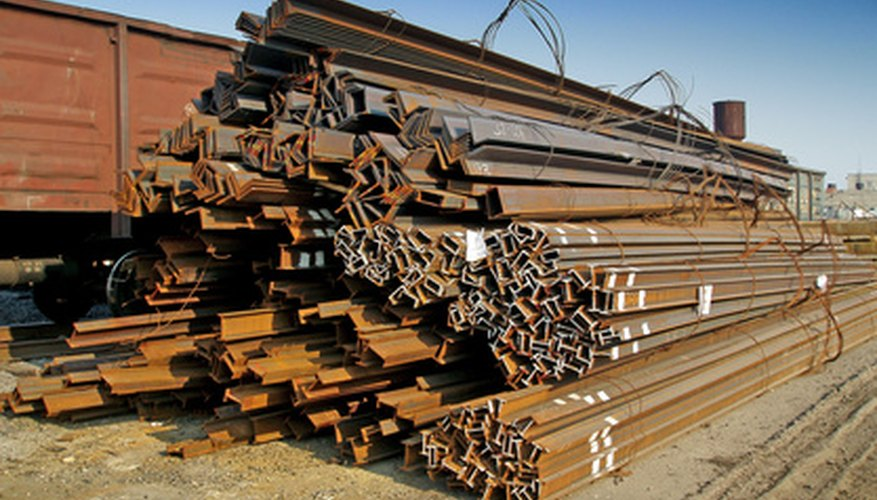 Steel beams can be fabricated by rolling, extruding, welding or riveting.