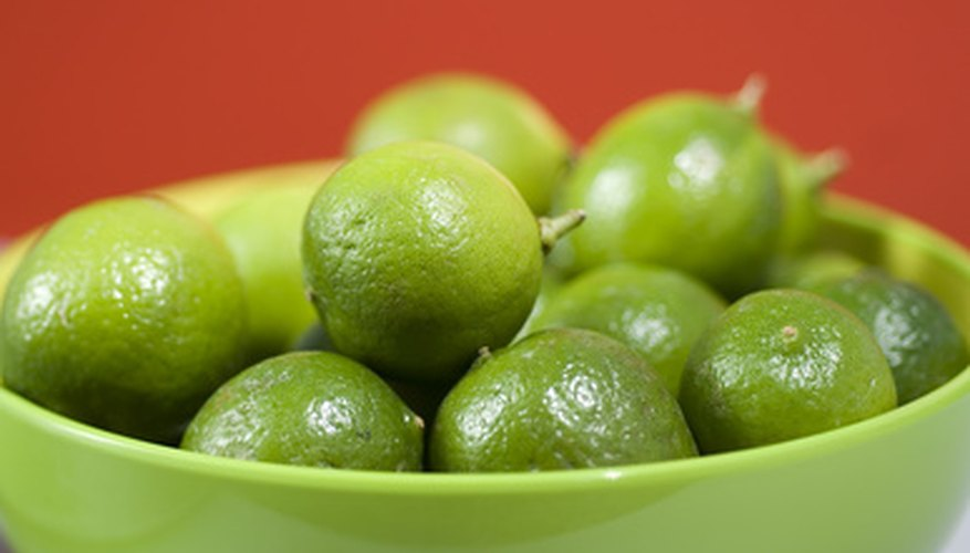Key limes are smaller than Persian limes.