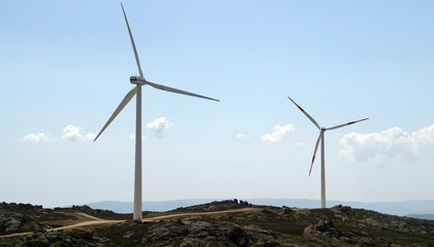 Modern wind turbines look different than classic windmills.