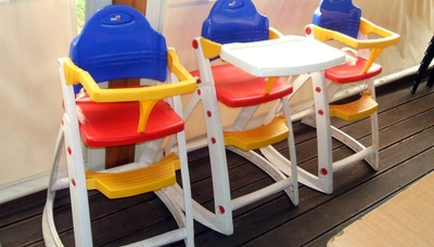 Padless high chairs.
