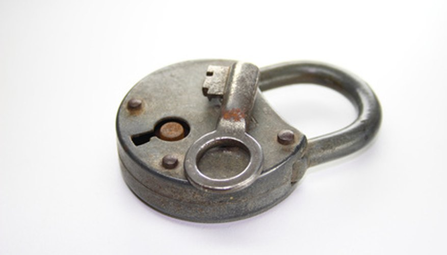 If you've lost the key to your antique lock, sometimes picking the lock is the only solution.