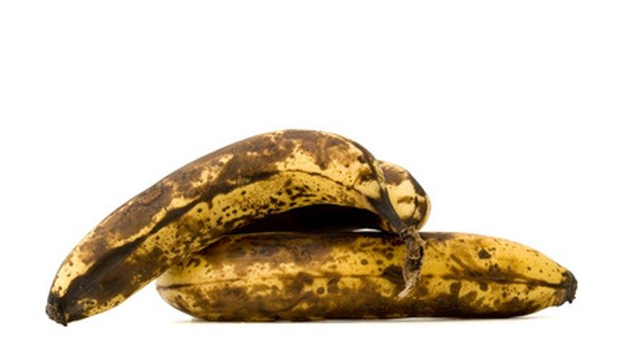 Por qué los plátanos se ponen negros en el refrigerador.