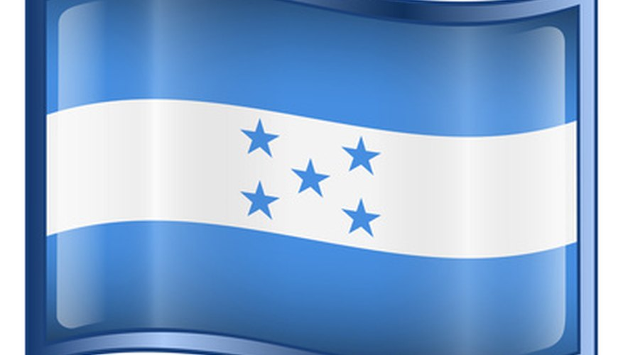 Bandera hondureña.