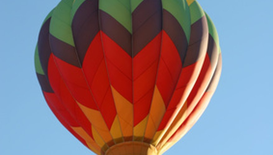 A hot-air balloon ride is a fun, romantic date.