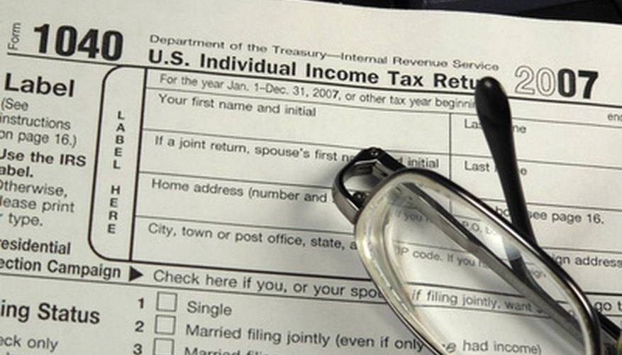 The type of tax form you use is noted at the top left corner of your tax documents.