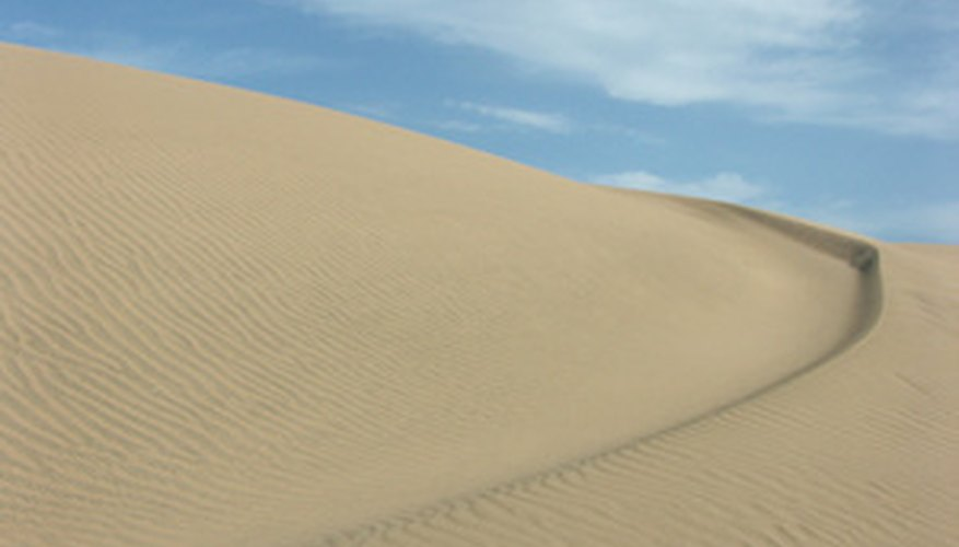Rain is extremely rare in some deserts.