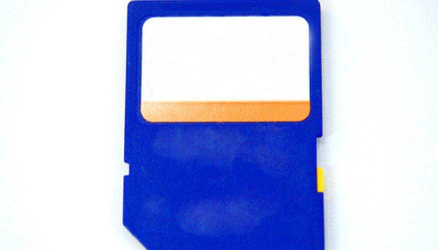 Las tarjetas SD pueden ser usadas como una memoria adicional o para transferir archivos.