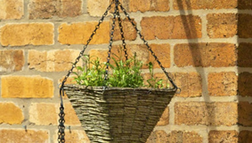Innovative hanging basket.