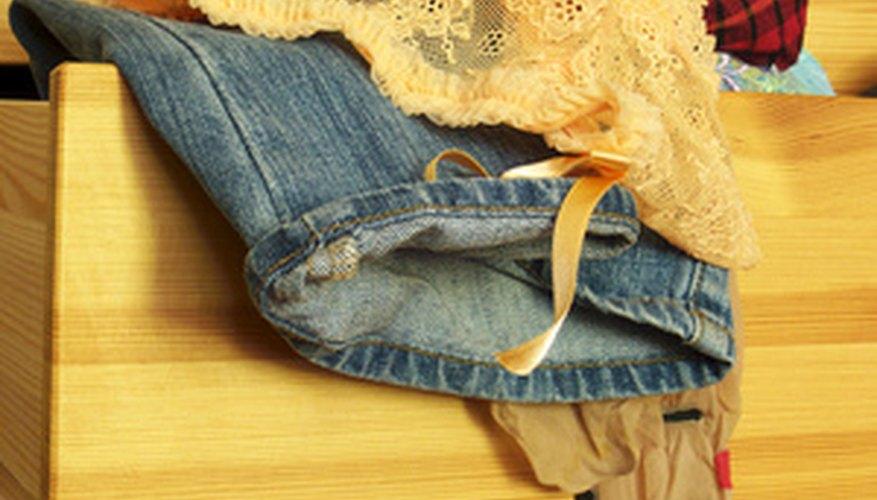 Algunos cajones de vestidor se salen fácilmente.